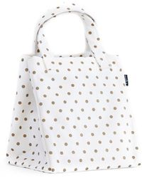 Maika - Metallic Gold Dots Lunch Tote - Lyst