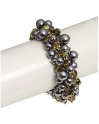 Saachi - Pearl Bracelet Gunmetal - Lyst