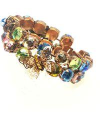 Otazu - Flower And Butterfly Swarovski Crystal Bracelet - Lyst