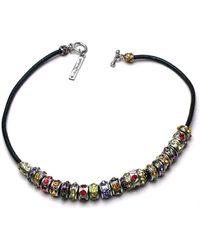 Otazu - Candy Rings Swarovski Crystal Necklace - Lyst