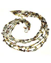 Otazu - Shell, Pearl, Swarovski Crystal Cascade Necklace - Lyst