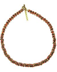 Otazu - Twisted Crystals Necklace - Lyst