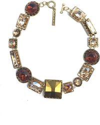 Otazu - Geometric Swarovski Crystal Necklace - Lyst