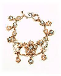 Otazu - Swarovski Crystals And White Pearls Floral Bracelet - Lyst