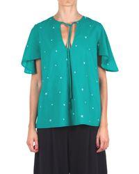..,merci - Women's C266egreen Green Cotton Blouse - Lyst