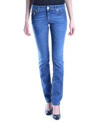 Dirk Bikkembergs - Women's Mcbi097032o Blue Cotton Jeans - Lyst