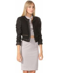 Leather And Sequins - Rydell Black Leather Jacket - Lyst