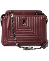 Fendi - Dotcom Click Leather Shoulder Bag - Lyst
