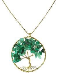 Aeravida - Eternal Tree Of Life Brass Long Necklace - Lyst