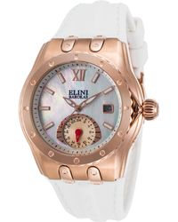 Elini Barokas - Genesis Vision White Silicone And Mop Dial Rose-tone Case - Lyst