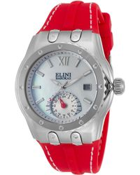 Elini Barokas - Genesis Vision Red Silicone White Mother Of Pearl Dial - Lyst