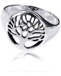 Aeravida - Flourishing Tree Of Life .925 Sterling Silver Ring - Lyst