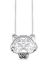 KENZO - Women's Silver Necklace - Lyst
