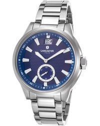Lancaster Italy   Women's Apollo Stainless Steel Blue Dial Stainless Steel   Lyst