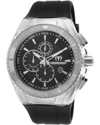 TechnoMarine - Men's Cruise Original Chrono Black Silicone And Dial Stainless Steel - Lyst