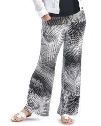 Patchington - Black/white Multi Print Pant - Lyst