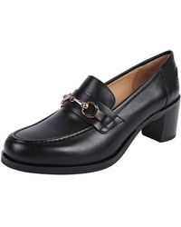 Pascucci - Stacked Heel Loafer - Lyst