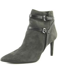 MICHAEL Michael Kors | Fawn Ankle Boots Women Pointed Toe Suede Gray Ankle Boot | Lyst