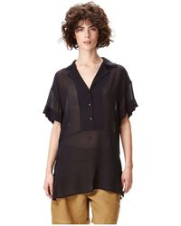 Liebeskind Berlin - Linen T-shirt With A V-neckline - Lyst