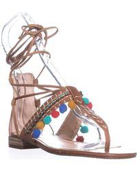 Vince Camuto - Balisa Flat Sandals, Whiskey Barrel - Lyst