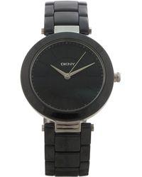 DKNY - Ny2292 Stanhope Black Ceramic Bracelet Watch - Lyst