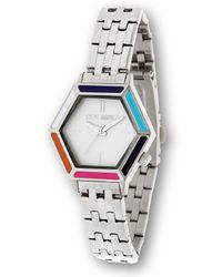 Steve Madden - Hexagon Case With Colored Enamel Watch - Lyst