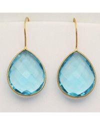 Blue Candy Jewelry - Single Gumdrop Light Blue Quartz Earrings - Lyst