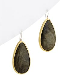 Gurhan - One Of A Kind Galapagos 24k & Silver 66.00 Ct. Tw. Obsidian Drop Earrings - Lyst