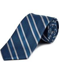 English Laundry - Blue Striped Silk Tie - Lyst