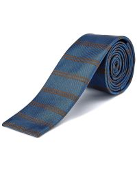 W.r.k. - W.r.k Blue Striped Silk Tie - Lyst
