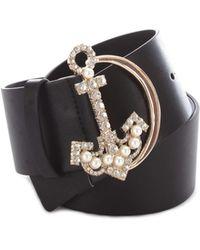 Pinko - Women's Black Leather Belt - Lyst