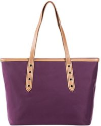Susu - Hampshire Howe Nylon Work Tote Women's Shoulder Bag With Leather Handle - Lyst