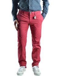 Siviglia | Men's Red Cotton Trousers | Lyst