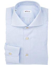 Kiton - Men's Light Blue/white Cotton Shirt - Lyst
