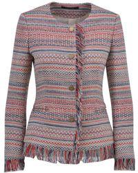 Tagliatore - Women's Multicolour Cotton Cardigan - Lyst