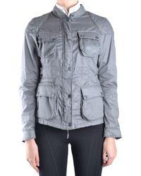 Brema - Women's Grey Cotton Outerwear Jacket - Lyst