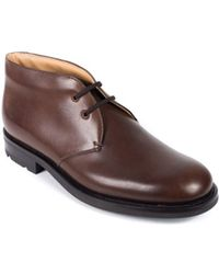 Church's | Women's Brown Leather Lace-up Catherine Shoes | Lyst