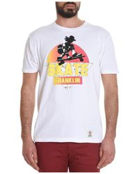 Franklin & Marshall | Men's White Cotton T-shirt | Lyst