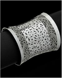 Lois Hill - Classic Silver Cutout Extra Large Cuff - Lyst