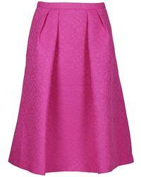 Essentiel - Women's Pink Polyester Skirt - Lyst