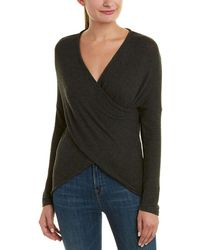 Three Dots - Crossover Sweater - Lyst