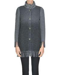 Patrizia Pepe - Women's Mcglcsg000004041i Grey Wool Coat - Lyst