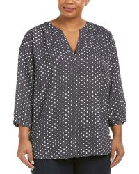 NYDJ - Plus Pintuck Blouse - Lyst