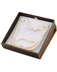 Splendid - 3 Piece 7mm White Freshwater Pearl Necklace, Bracelet And Stud Set In Sterling Silver - Lyst