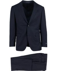 Pal Zileri - Navy Blue Wool Two Button Suit - Lyst