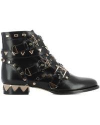 Sophia Webster - Women's Black Leather Ankle Boots - Lyst