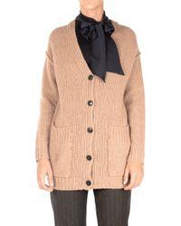 Jucca - Women's Beige Wool Cardigan - Lyst