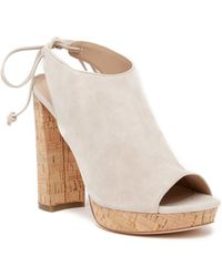 b5c0585913b62b Pour La Victoire - Womens Yannacs Suede Peep Toe Casual Platform Sandals -  Lyst