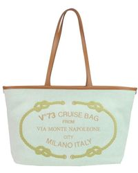 V73 - Women's Green Fabric Tote - Lyst