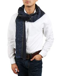 Gianfranco Ferré - Du1 C3113 Navy/khaki Wool Blend Mens' Scarf - Lyst
